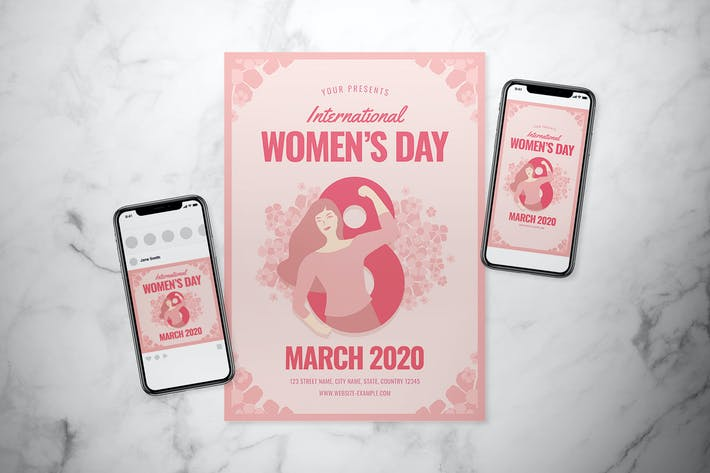 Thumbnail for International Women's Day Flyer Set