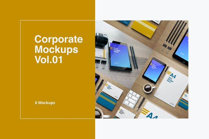Thumbnail for Corporate Mockups Vol.01