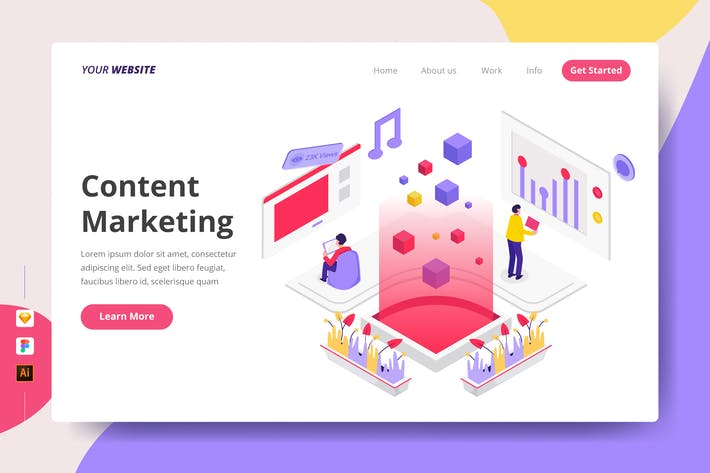 Thumbnail for Content Marketing - Landing Page