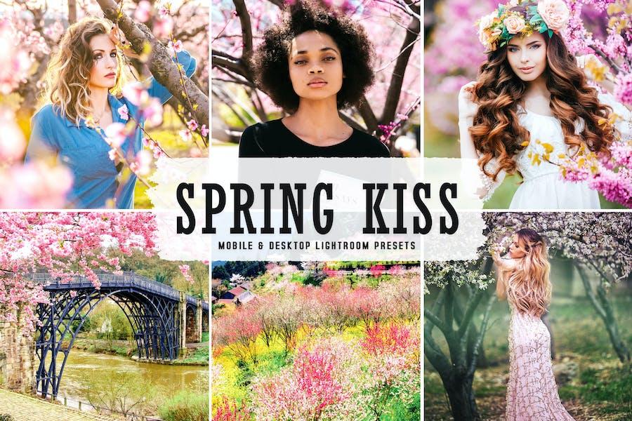 Spring Kiss Mobile & Desktop Lightroom Presets