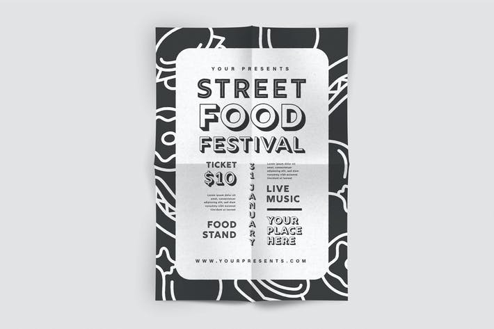 Thumbnail for Street Food Flyer