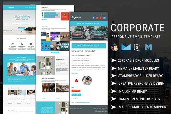 Thumbnail for Corporate - Responsive Email Newsletter Templates