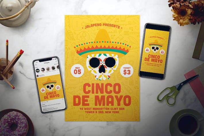 Thumbnail for Cinco De Mayo Flyer Set