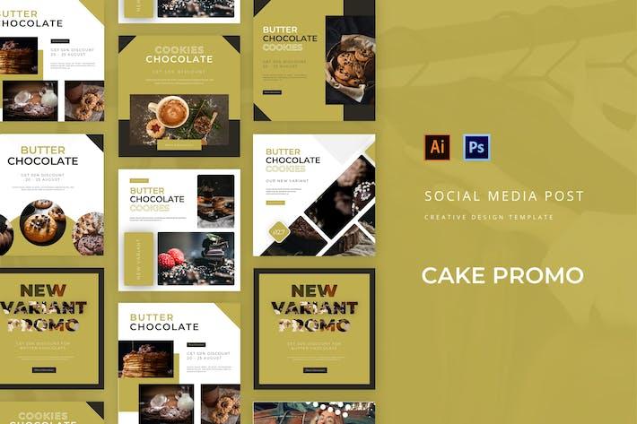 Thumbnail for Cake Promo Social Media Post