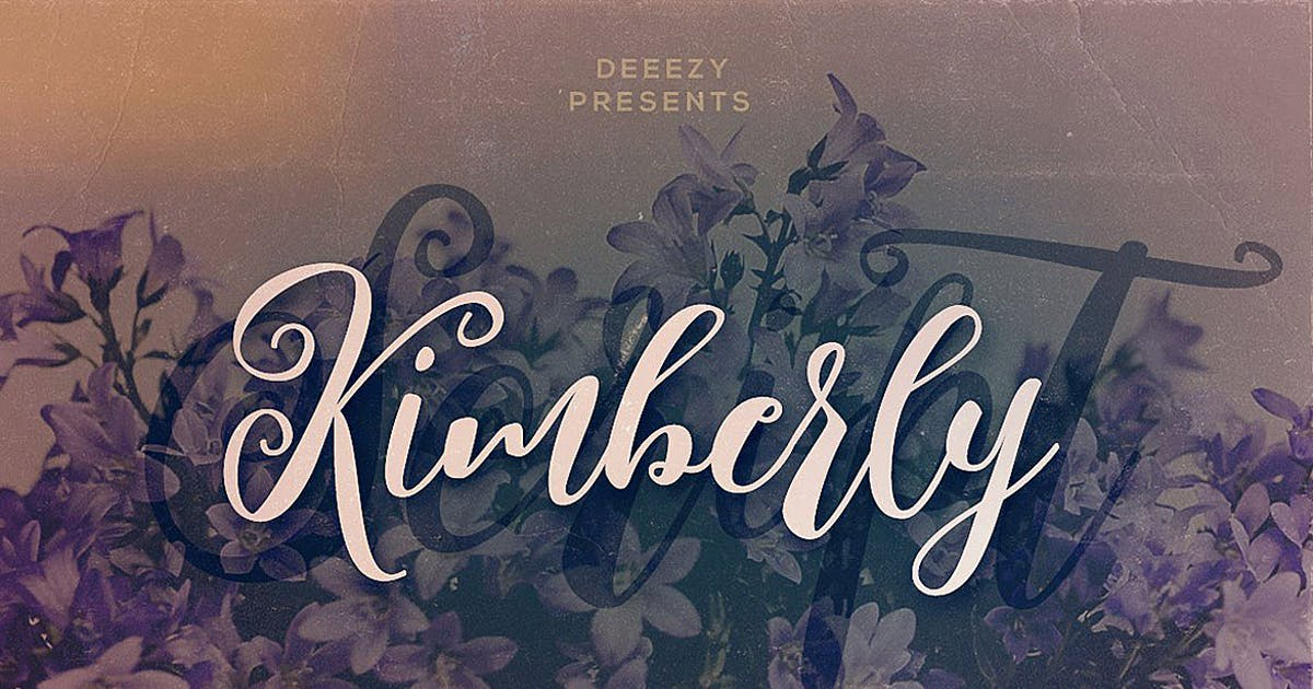 Download Kimberly Script Font by cruzine
