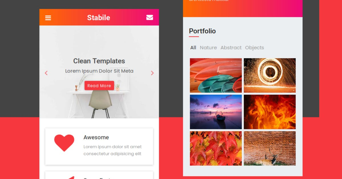 Download Stabile - HTML Mobile Template by rabonadev