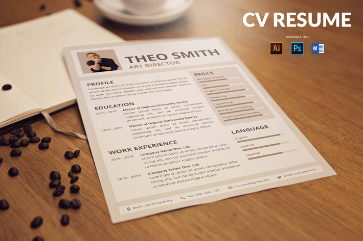 Thumbnail for CV Resume Simple And Minimal