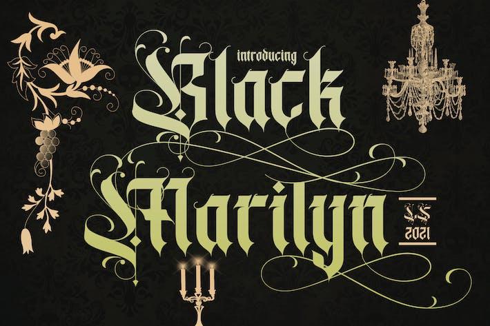 Black Marilyn   Police Blackletter