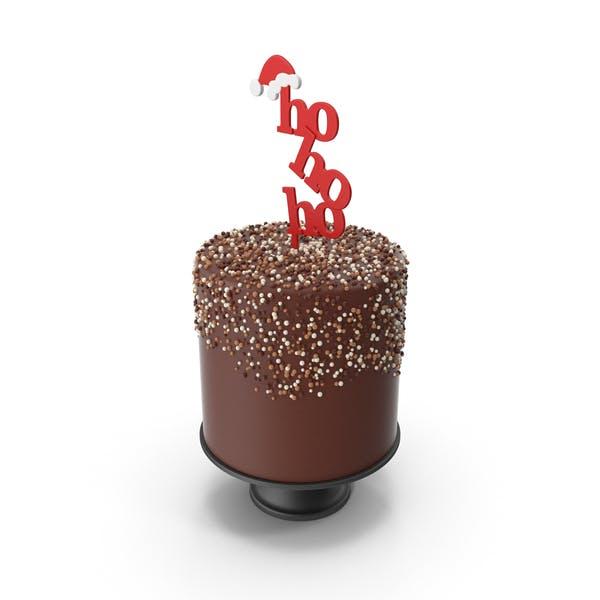Thumbnail for Christmas Cake with Hohoho and Santas Hat Topper