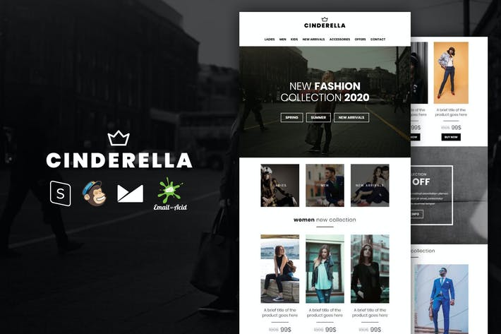 Thumbnail for Cinderella - E-commerce Responsive Email Template