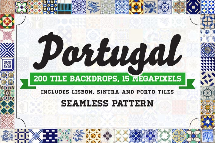 Thumbnail for 200 Seamless Portugal Azulejo Tile Backgrounds
