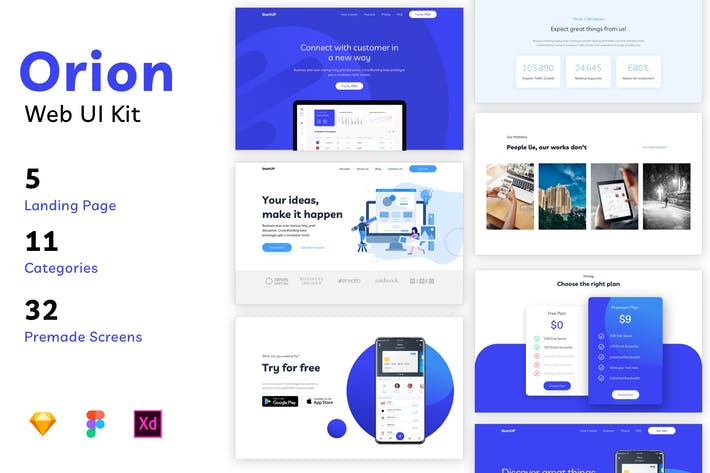 Thumbnail for Orion - Web UI Kit