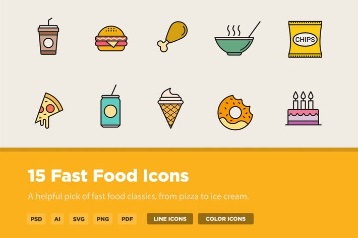 Thumbnail for 15 Fast Food Icons