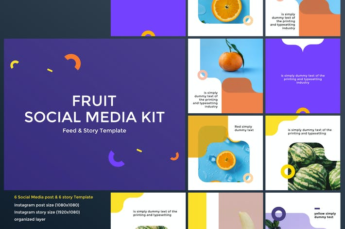Thumbnail for Fruit Social Media Kit