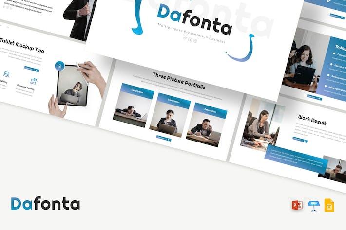 Dafonta - Presentation PPTX / GSlides / Key