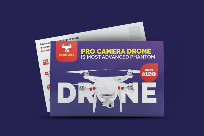 Thumbnail for Drone Product Showcase Postcard