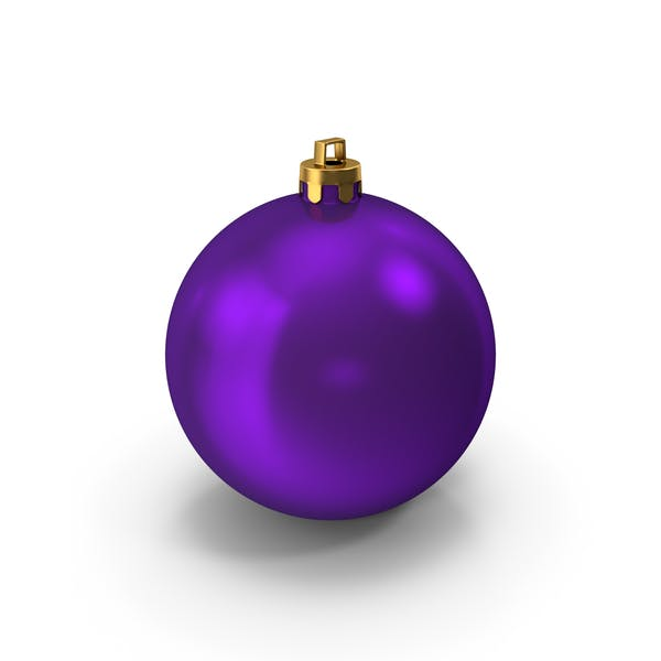 Thumbnail for Purple Christmas Ornament