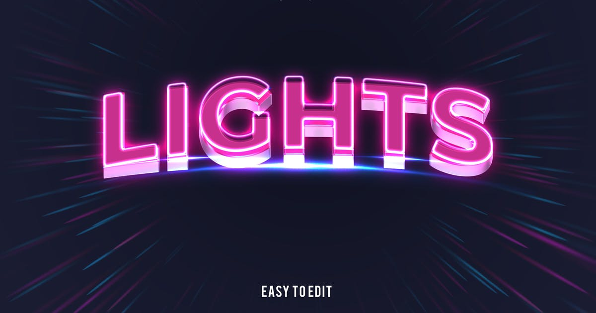 Download Light - 3D Text Effect PSD by nathatype