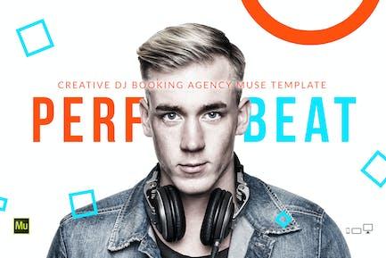 PerfectBeat - Шаблон Агентство бронирования DJ Muse