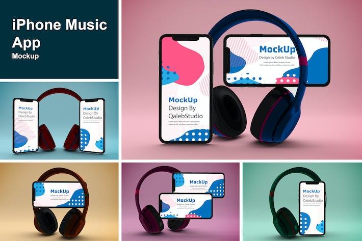 Thumbnail for iPhone Music App Mockup