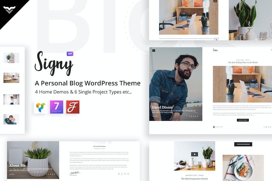 Signy - A Personal Blog WordPress Theme