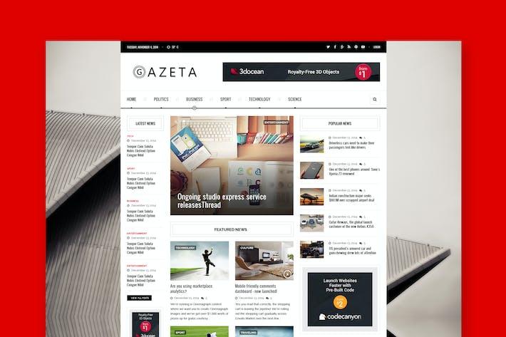 Thumbnail for Gazeta - Magazine & News PSD Template