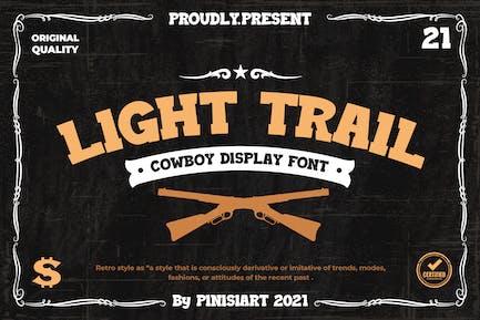 Light Trail - Western Font