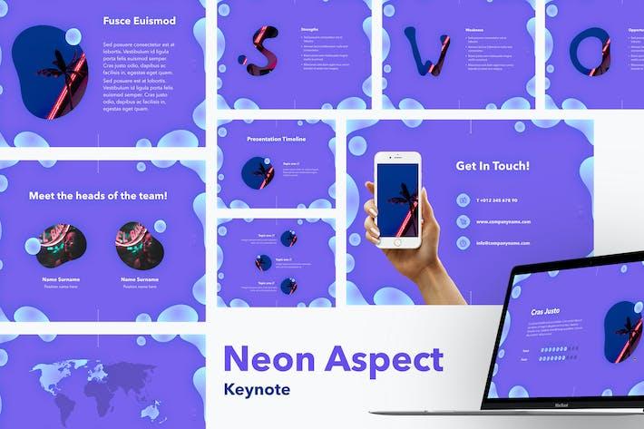 Thumbnail for Шаблон Keynote неонового аспекта