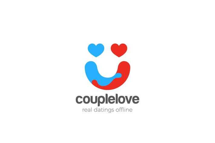 Cover Image For Logo Love Couple Union Holding Hands as Smile