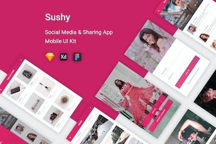 Sushy - Social Media Ui Kit Mobile App