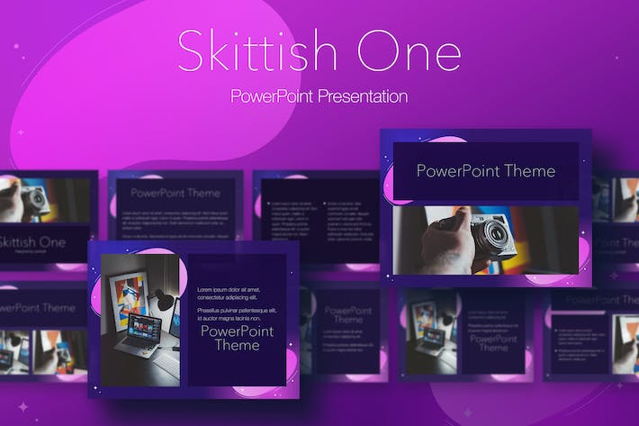 Thumbnail for Skittish One PowerPoint Template