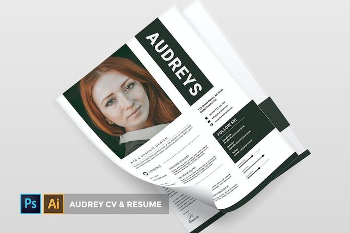 Thumbnail for Audreys   CV & CV