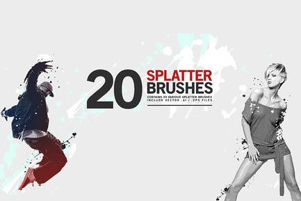 20 Splatter Brushes