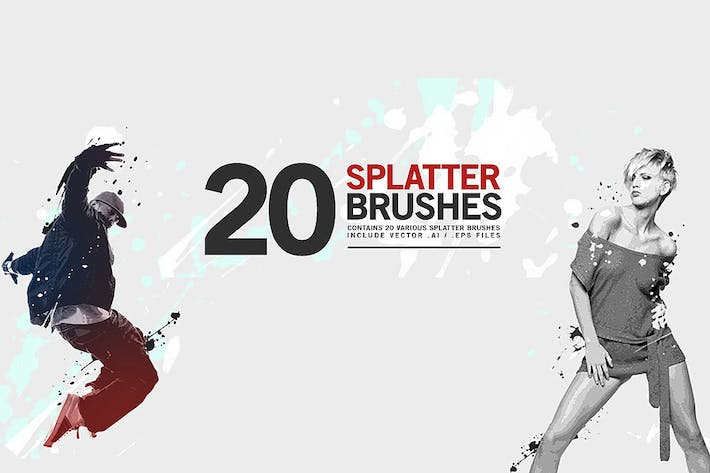 Thumbnail for 20 Splatter Brushes