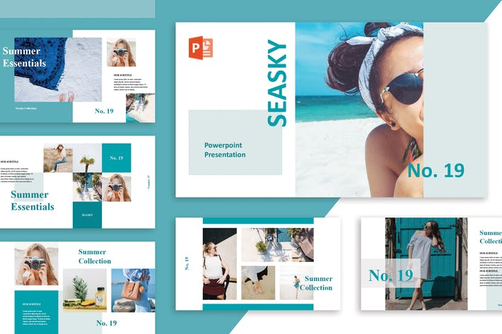 Thumbnail for Saesky Powerpoint Template
