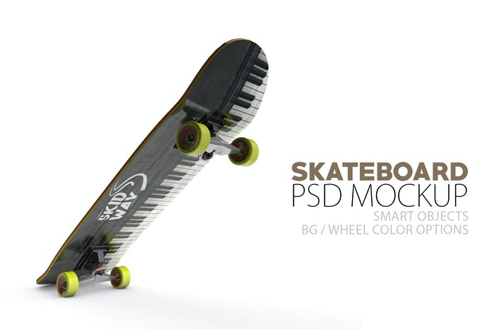 Thumbnail for Skateboard Layered PSD Mock-ups