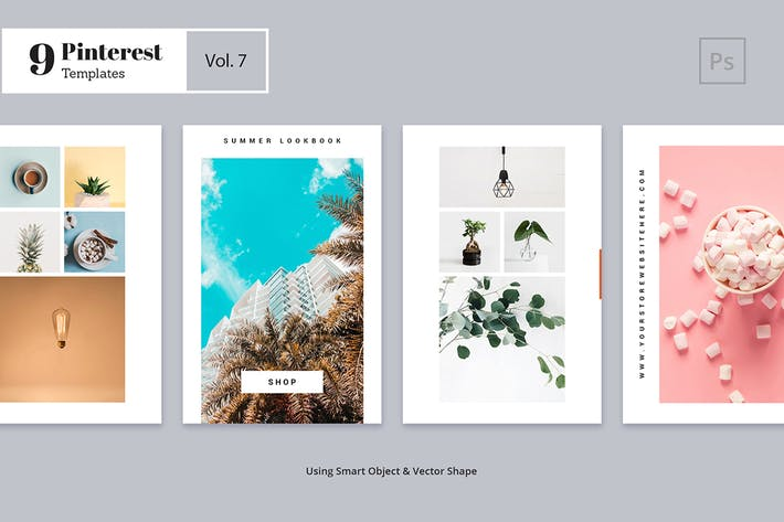 Thumbnail for Pinterest Templates Vol. 7