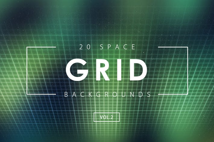 Thumbnail for 20 Space Grid Backgrounds Vol. 2