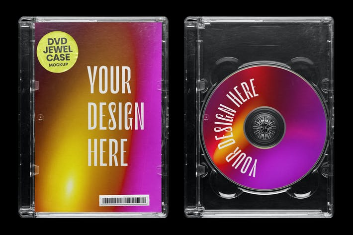 DVD Jewel Case Mockup