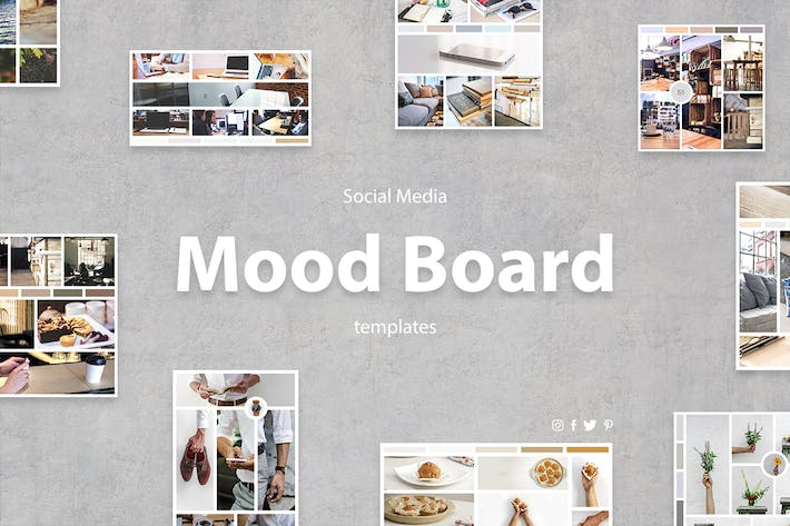 Thumbnail for Social Media Mood Board Templates