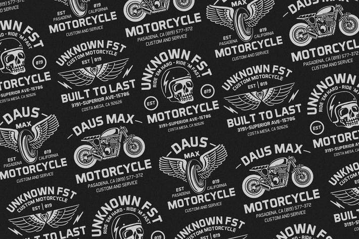 Thumbnail for 4 Motorcycle Badges Logo