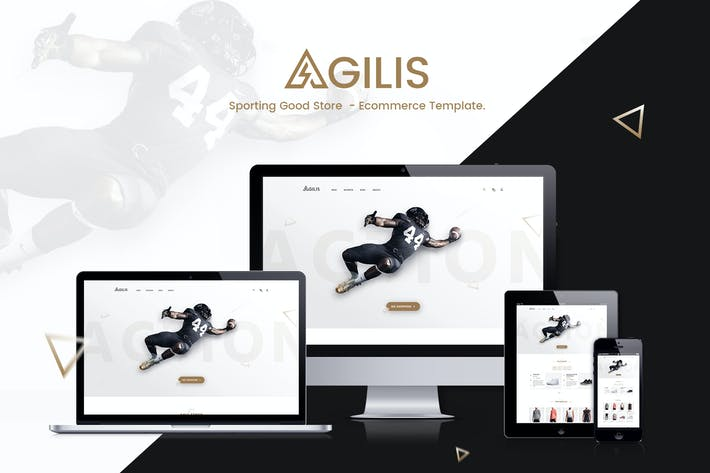 Thumbnail for Agilis - Sport Good Store PSD Template