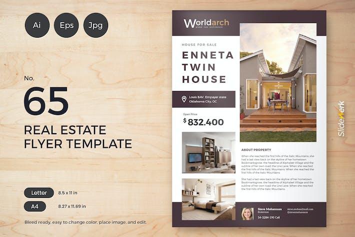 Thumbnail for Real Estate Flyer Template 65 - Slidewerk