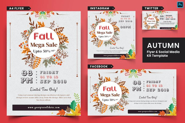 Thumbnail for Autumn Festival Flyer & Social Media Pack-17