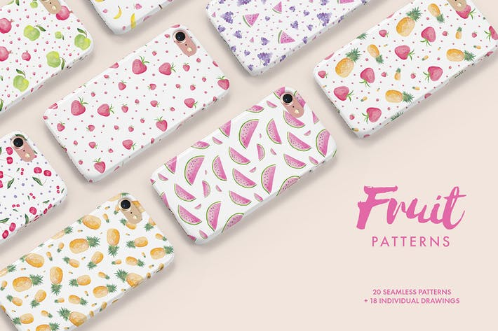 Thumbnail for Watercolor Fruit Patterns
