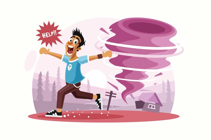 Thumbnail for Tornado Disaster Vector Illustration
