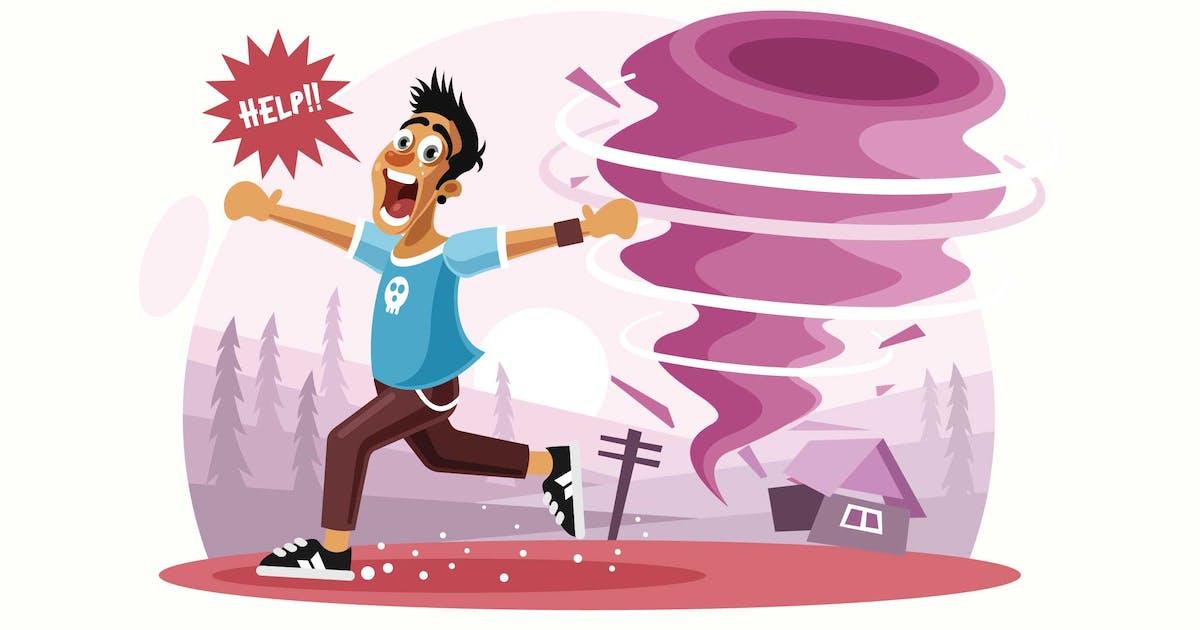 Download Tornado Disaster Vector Illustration by IanMikraz