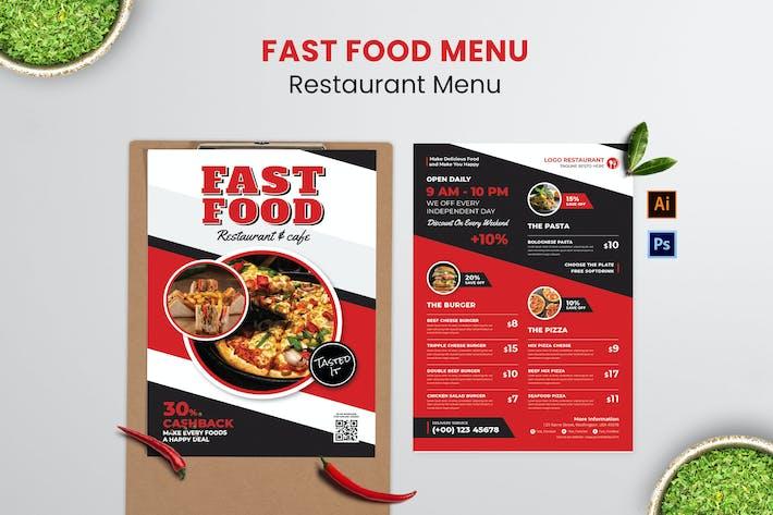 Fast Food Food Menu