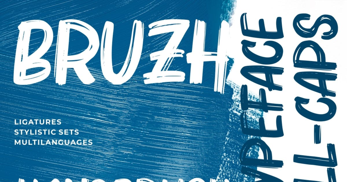 Download Bruzh | Strong Brush Typeface by garisman