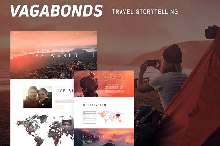 Thumbnail for Vagabonds - Personal Travel & Lifestyle Blog Theme
